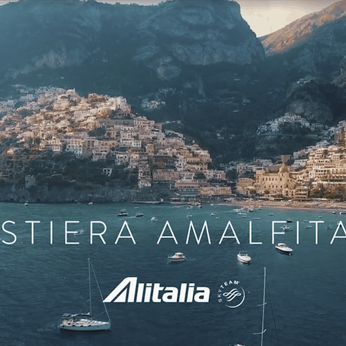 Alitalia riparte dalla Costiera Amalfitana con un video promo davvero suggestivo